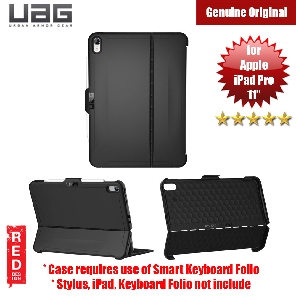 "Picture of UAG Scout Series for Apple iPad Pro 11"" Case (Black) Apple iPad Pro 11.0 2018- Apple iPad Pro 11.0 2018 Cases, Apple iPad Pro 11.0 2018 Covers, iPad Cases and a wide selection of Apple iPad Pro 11.0 2018 Accessories in Malaysia, Sabah, Sarawak and Singapore"