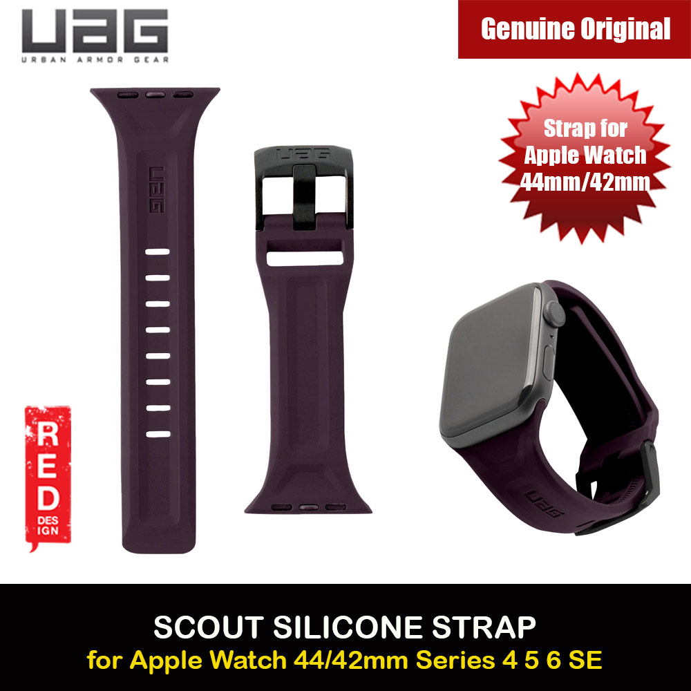 Picture of UAG Scout Silicone Watch Strap for Apple Watch 42mm 44mm Series 4 Series 5 Series 6 Series SE(Egg Plant) Red Design- Red Design Cases, Red Design Covers, iPad Cases and a wide selection of Red Design Accessories in Malaysia, Sabah, Sarawak and Singapore