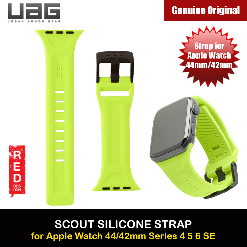 Picture of UAG Scout Silicone Watch Strap for Apple Watch 42mm 44mm Series 4 Series 5 Series 6 Series SE(Neon Green) Red Design- Red Design Cases, Red Design Covers, iPad Cases and a wide selection of Red Design Accessories in Malaysia, Sabah, Sarawak and Singapore
