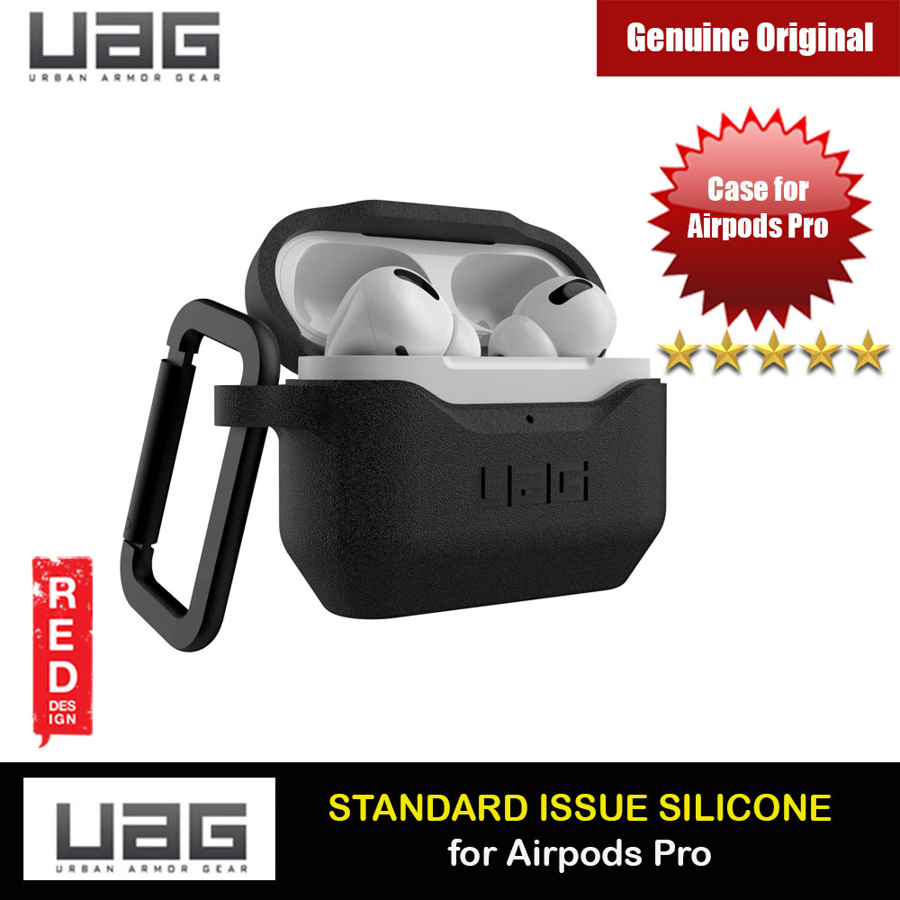 Picture of UAG Standard Issue Silicone Case with Detachable Carabiner for Airpods Pro (Black) Apple Airpods Pro- Apple Airpods Pro Cases, Apple Airpods Pro Covers, iPad Cases and a wide selection of Apple Airpods Pro Accessories in Malaysia, Sabah, Sarawak and Singapore