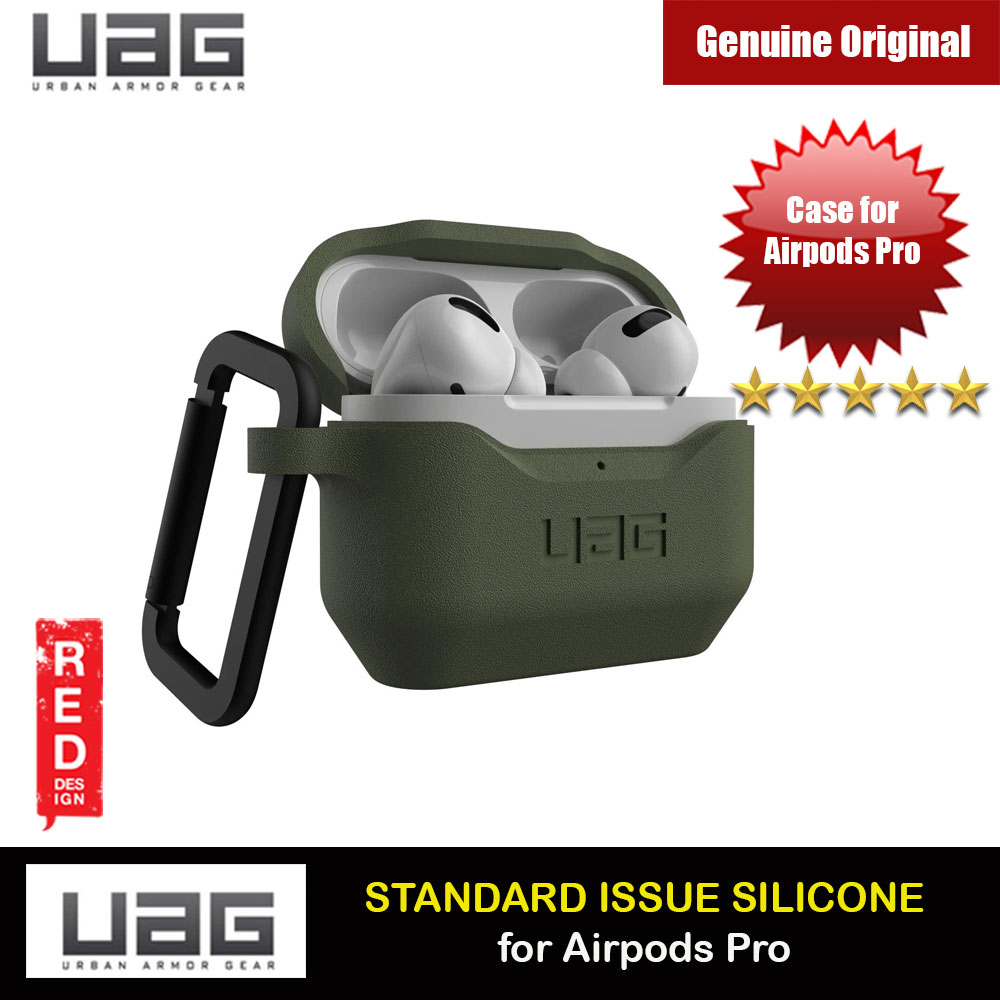 Picture of UAG Standard Issue Silicone Case with Detachable Carabiner for Airpods Pro (Olive) Apple Airpods Pro- Apple Airpods Pro Cases, Apple Airpods Pro Covers, iPad Cases and a wide selection of Apple Airpods Pro Accessories in Malaysia, Sabah, Sarawak and Singapore