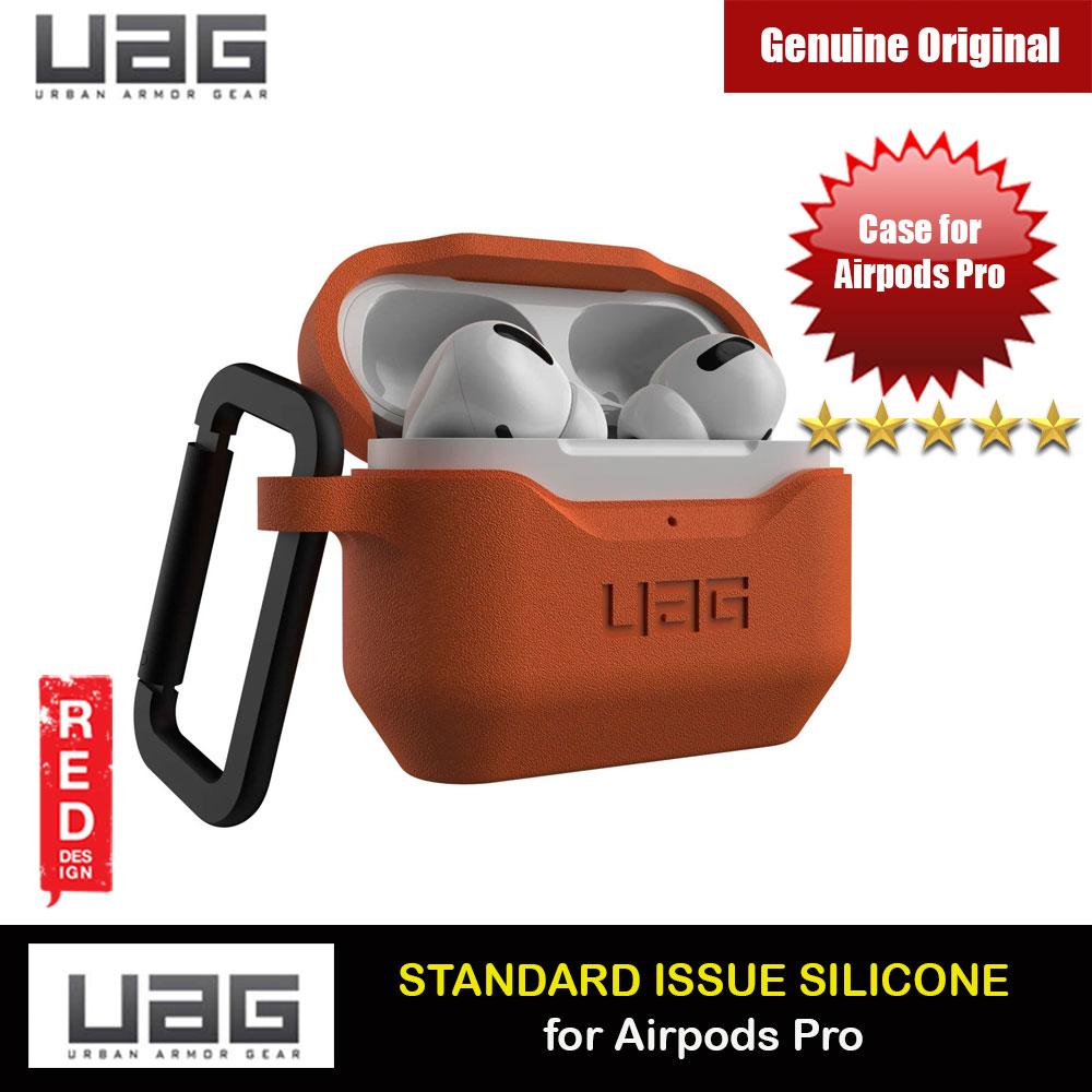 Picture of UAG Standard Issue Silicone Case with Detachable Carabiner for Airpods Pro (Orange) Apple Airpods Pro- Apple Airpods Pro Cases, Apple Airpods Pro Covers, iPad Cases and a wide selection of Apple Airpods Pro Accessories in Malaysia, Sabah, Sarawak and Singapore