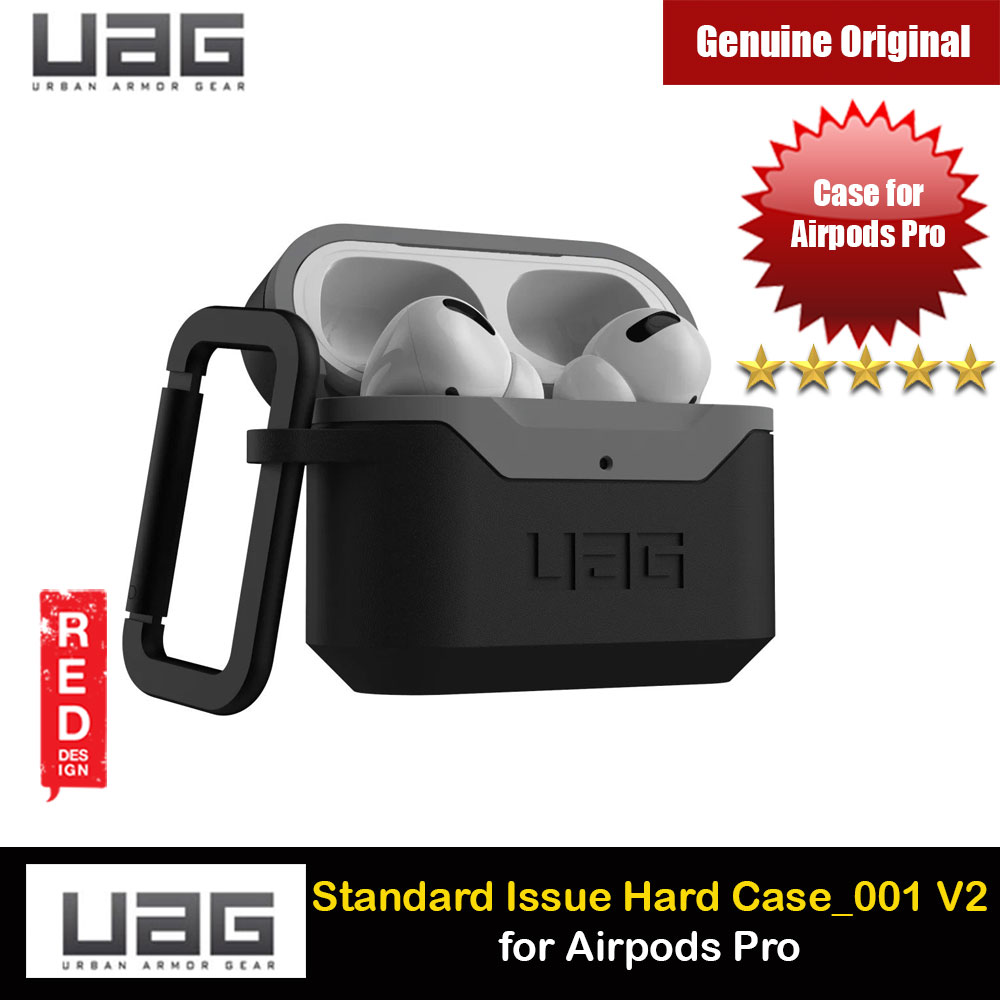 Picture of UAG Standard Issue Hard V2 Case with Detachable Carabiner for Airpods Pro (Black Grey) Apple Airpods Pro- Apple Airpods Pro Cases, Apple Airpods Pro Covers, iPad Cases and a wide selection of Apple Airpods Pro Accessories in Malaysia, Sabah, Sarawak and Singapore
