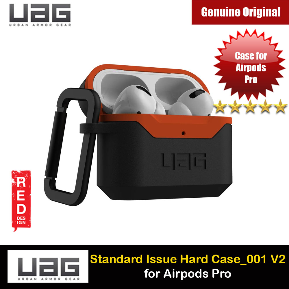 Picture of UAG Standard Issue Hard V2 Case with Detachable Carabiner for Airpods Pro (Black Orange) Apple Airpods Pro- Apple Airpods Pro Cases, Apple Airpods Pro Covers, iPad Cases and a wide selection of Apple Airpods Pro Accessories in Malaysia, Sabah, Sarawak and Singapore