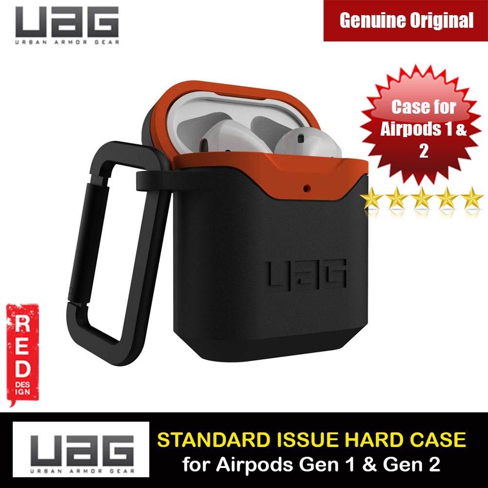 Picture of UAG Standard Issue Hard V2 Case with Detachable Carabiner for Airpods Gen 1 Airpods Gen 2 (Black Orange) Apple Airpods 1- Apple Airpods 1 Cases, Apple Airpods 1 Covers, iPad Cases and a wide selection of Apple Airpods 1 Accessories in Malaysia, Sabah, Sarawak and Singapore