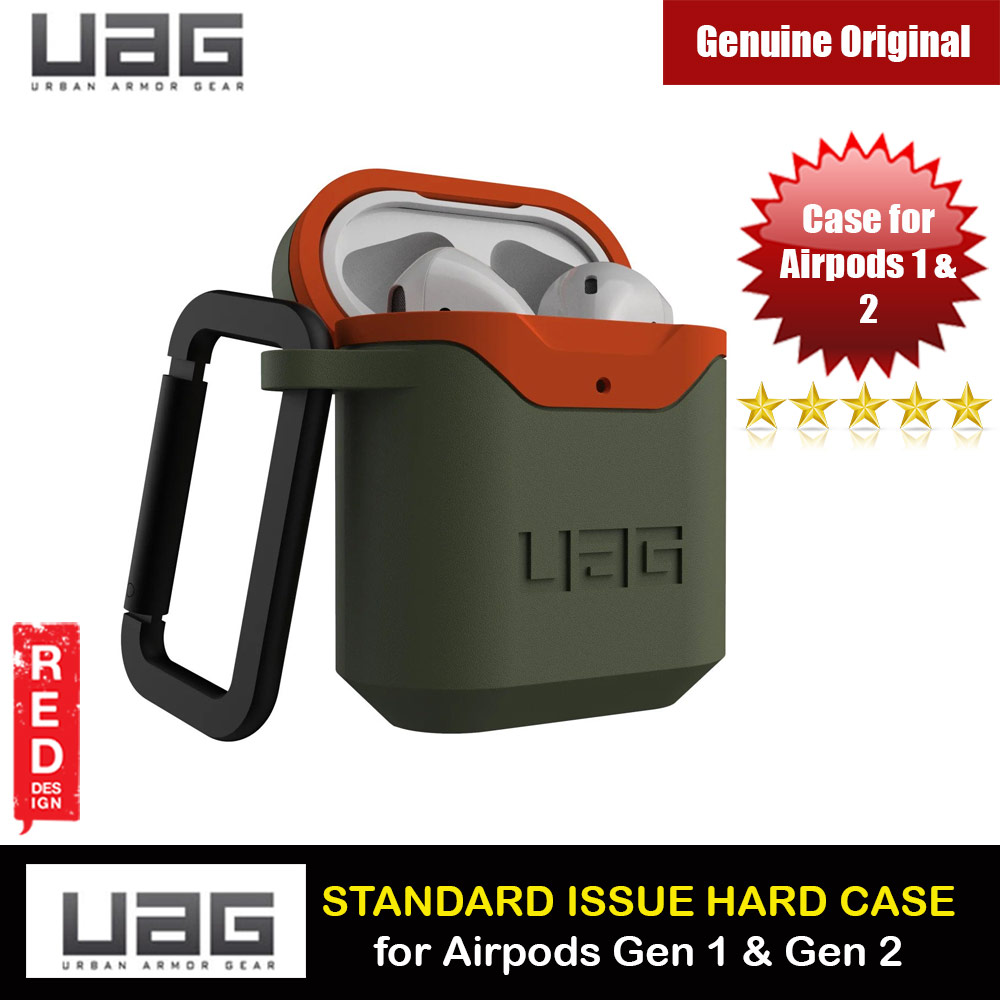 Picture of UAG Standard Issue Hard V2 Case with Detachable Carabiner for Airpods Gen 1 Airpods Gen 2 (Olive Orange) Apple Airpods 1- Apple Airpods 1 Cases, Apple Airpods 1 Covers, iPad Cases and a wide selection of Apple Airpods 1 Accessories in Malaysia, Sabah, Sarawak and Singapore