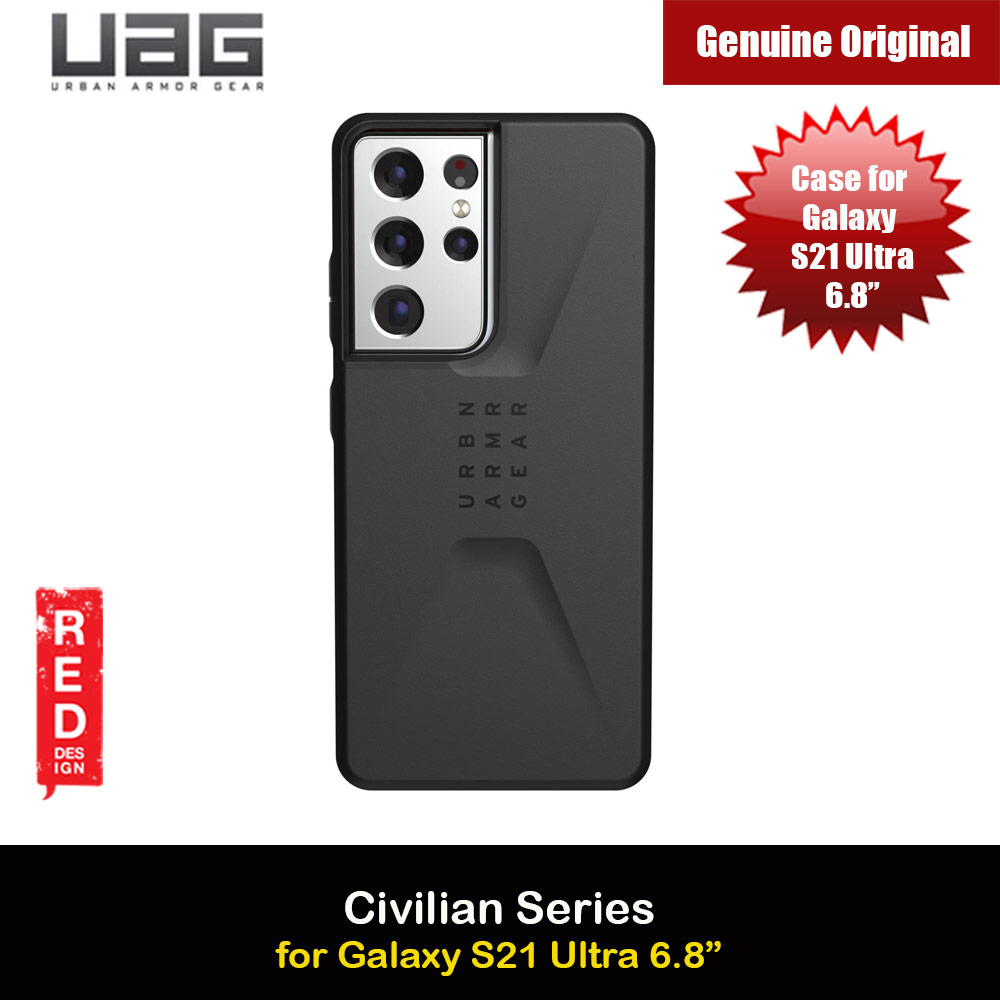 Picture of UAG Civilian Series Drop Protection Case for Samsung Galaxy S21 Ultra 6.8 inches (Black) Samsung Galaxy S21 Ultra 6.8- Samsung Galaxy S21 Ultra 6.8 Cases, Samsung Galaxy S21 Ultra 6.8 Covers, iPad Cases and a wide selection of Samsung Galaxy S21 Ultra 6.8 Accessories in Malaysia, Sabah, Sarawak and Singapore
