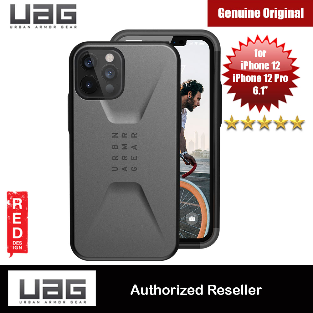 Picture of UAG Urban Armor Gear Protection Case Civilian Series for iPhone 12 iPhone 12 Pro 6.1 (Silver) Apple iPhone 12 6.1- Apple iPhone 12 6.1 Cases, Apple iPhone 12 6.1 Covers, iPad Cases and a wide selection of Apple iPhone 12 6.1 Accessories in Malaysia, Sabah, Sarawak and Singapore
