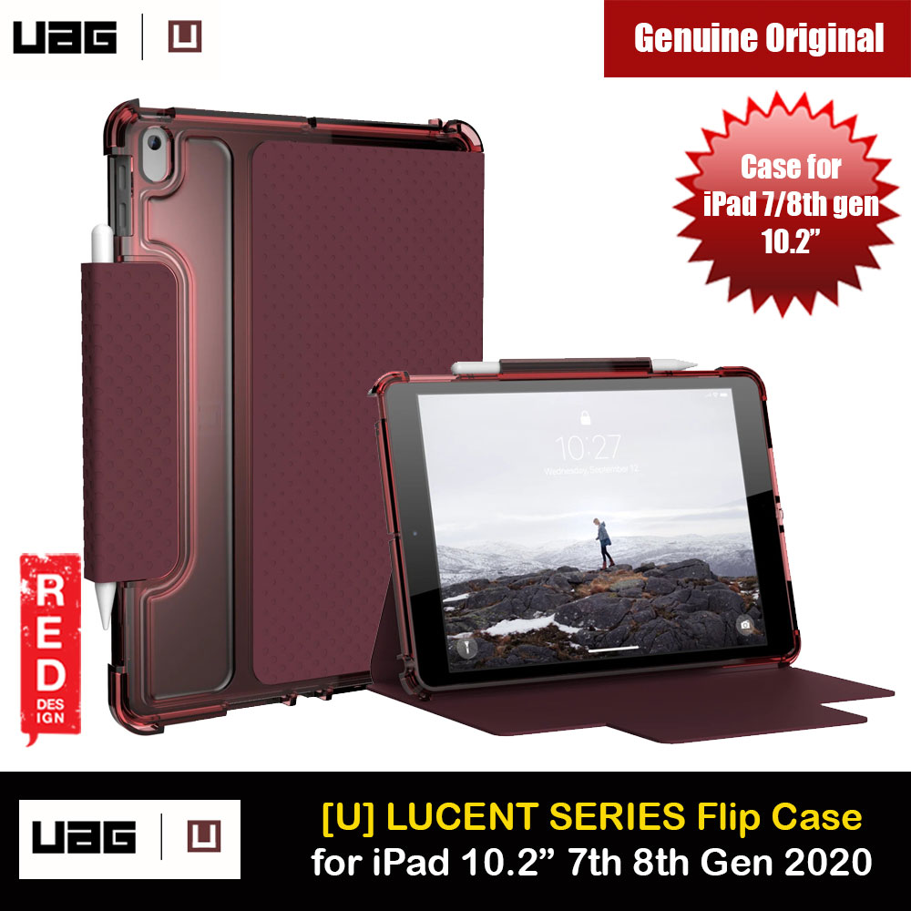 Picture of UAG [U] Lucent Series Featherlight Ultra Slim Profile Protection Case for Apple iPad 10.2 7th gen 2019 iPad 10.2 8th gen 2020 (Aubergine/Dusty Rose) Apple iPad 10.2 7th gen 2019- Apple iPad 10.2 7th gen 2019 Cases, Apple iPad 10.2 7th gen 2019 Covers, iPad Cases and a wide selection of Apple iPad 10.2 7th gen 2019 Accessories in Malaysia, Sabah, Sarawak and Singapore