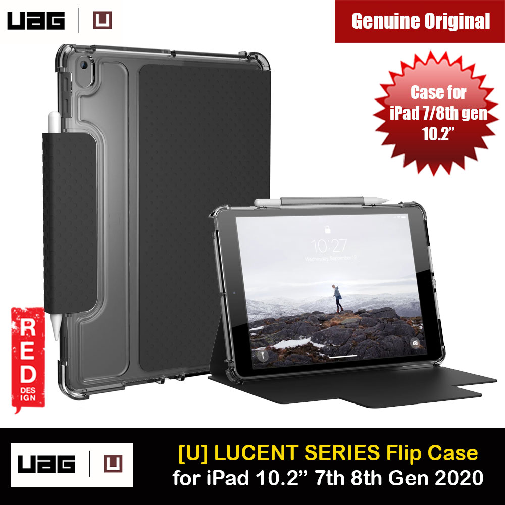 Picture of UAG [U] Lucent Series Featherlight Ultra Slim Profile Protection Case for Apple iPad 10.2 7th gen 2019 iPad 10.2 8th gen 2020 (Black Ice) Apple iPad 10.2 7th gen 2019- Apple iPad 10.2 7th gen 2019 Cases, Apple iPad 10.2 7th gen 2019 Covers, iPad Cases and a wide selection of Apple iPad 10.2 7th gen 2019 Accessories in Malaysia, Sabah, Sarawak and Singapore