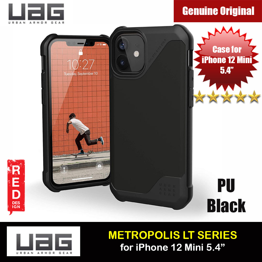 Picture of UAG Urban Armor Gear Metropolis LT Feather Light Heavy Duty Shockproof Slim Rugged Series for iPhone 12 Mini 5.4 (PU Black) Apple iPhone 12 mini 5.4- Apple iPhone 12 mini 5.4 Cases, Apple iPhone 12 mini 5.4 Covers, iPad Cases and a wide selection of Apple iPhone 12 mini 5.4 Accessories in Malaysia, Sabah, Sarawak and Singapore