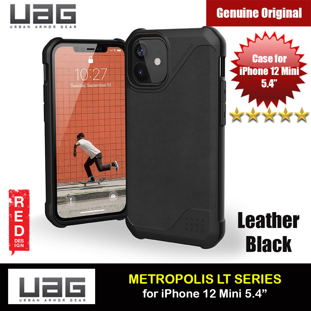 Picture of UAG Urban Armor Gear Metropolis LT Feather Light Heavy Duty Shockproof Slim Rugged Series for iPhone 12 Mini 5.4 (Leather Black) Apple iPhone 12 mini 5.4- Apple iPhone 12 mini 5.4 Cases, Apple iPhone 12 mini 5.4 Covers, iPad Cases and a wide selection of Apple iPhone 12 mini 5.4 Accessories in Malaysia, Sabah, Sarawak and Singapore