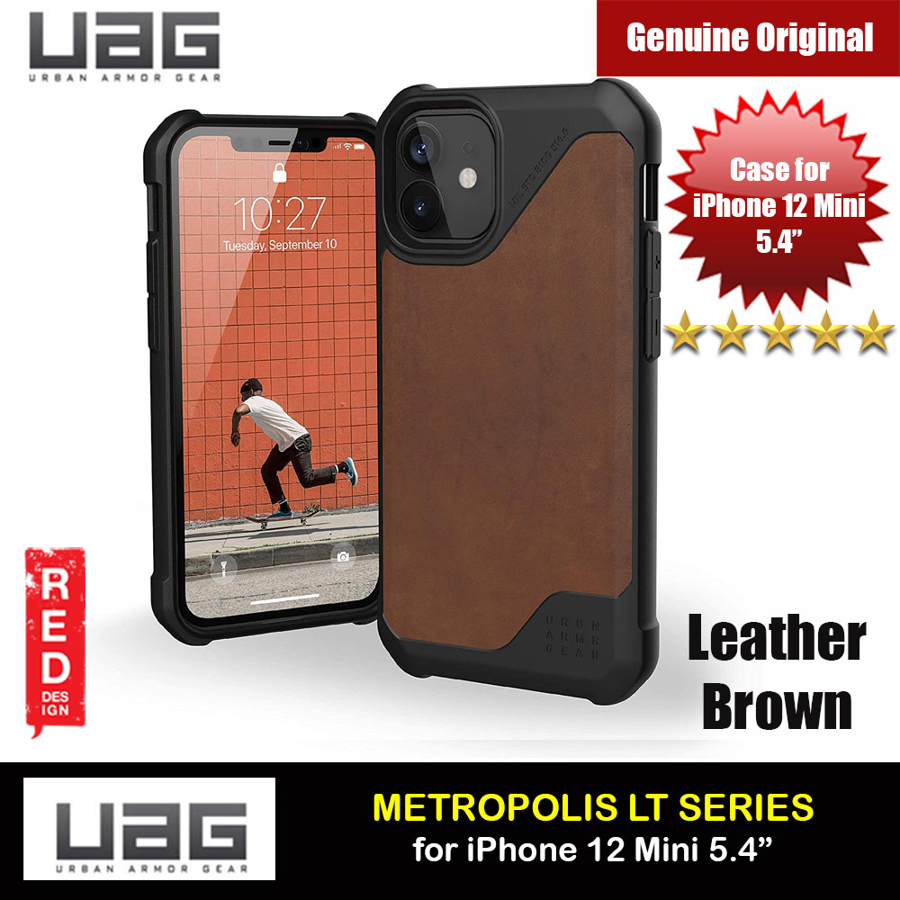 Picture of UAG Urban Armor Gear Metropolis LT Feather Light Heavy Duty Shockproof Slim Rugged Series for iPhone 12 Mini 5.4 (Leather Brown) Apple iPhone 12 mini 5.4- Apple iPhone 12 mini 5.4 Cases, Apple iPhone 12 mini 5.4 Covers, iPad Cases and a wide selection of Apple iPhone 12 mini 5.4 Accessories in Malaysia, Sabah, Sarawak and Singapore