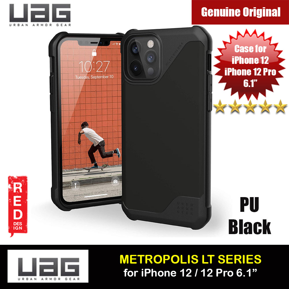 Picture of UAG Urban Armor Gear Metropolis LT Feather Light Heavy Duty Shockproof Slim Rugged Series for iPhone 12  iPhone 12 Pro 6.1 (PU Black) Apple iPhone 12 6.1- Apple iPhone 12 6.1 Cases, Apple iPhone 12 6.1 Covers, iPad Cases and a wide selection of Apple iPhone 12 6.1 Accessories in Malaysia, Sabah, Sarawak and Singapore