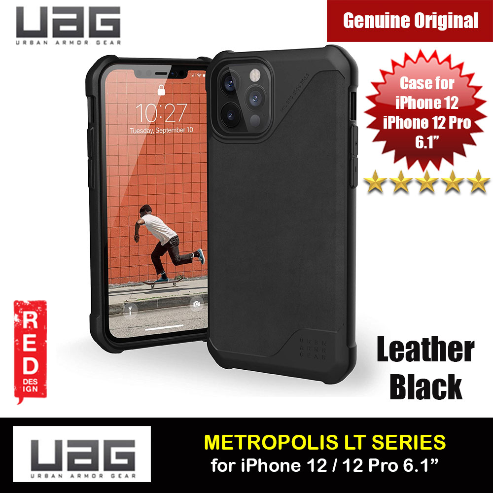 Picture of UAG Urban Armor Gear Metropolis LT Feather Light Heavy Duty Shockproof Slim Rugged Series for iPhone 12  iPhone 12 Pro 6.1 (Leather Black) Apple iPhone 12 6.1- Apple iPhone 12 6.1 Cases, Apple iPhone 12 6.1 Covers, iPad Cases and a wide selection of Apple iPhone 12 6.1 Accessories in Malaysia, Sabah, Sarawak and Singapore