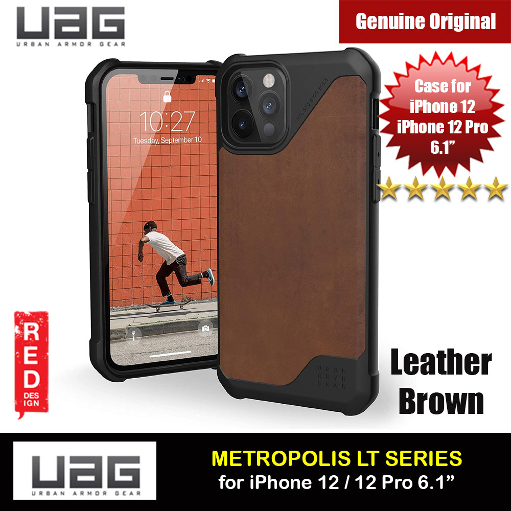 Picture of UAG Urban Armor Gear Metropolis LT Feather Light Heavy Duty Shockproof Slim Rugged Series for iPhone 12  iPhone 12 Pro 6.1 (Leather Brown) Apple iPhone 12 6.1- Apple iPhone 12 6.1 Cases, Apple iPhone 12 6.1 Covers, iPad Cases and a wide selection of Apple iPhone 12 6.1 Accessories in Malaysia, Sabah, Sarawak and Singapore