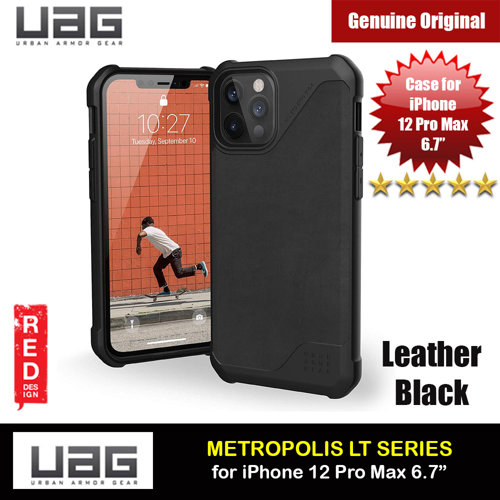 Picture of UAG Urban Armor Gear Metropolis LT Feather Light Heavy Duty Shockproof Slim Rugged Series for iPhone 12 Pro Max 6.7 (Leather Black) Apple iPhone 12 Pro Max 6.7- Apple iPhone 12 Pro Max 6.7 Cases, Apple iPhone 12 Pro Max 6.7 Covers, iPad Cases and a wide selection of Apple iPhone 12 Pro Max 6.7 Accessories in Malaysia, Sabah, Sarawak and Singapore