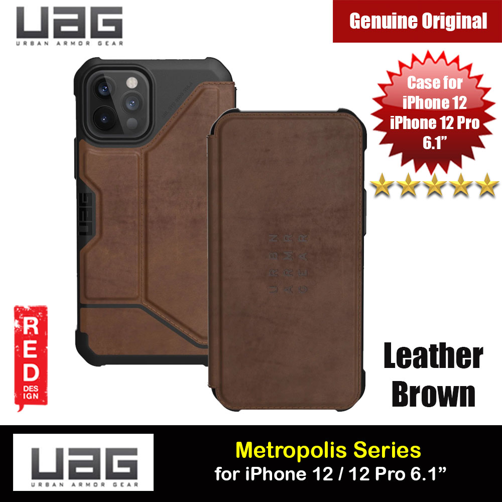Picture of UAG Urban Armor Gear Protection Flip Cover Card Storage Case Metropolis Series for iPhone 12 iPhone 12 Pro 6.1 (Leather Brown) Apple iPhone 12 6.1- Apple iPhone 12 6.1 Cases, Apple iPhone 12 6.1 Covers, iPad Cases and a wide selection of Apple iPhone 12 6.1 Accessories in Malaysia, Sabah, Sarawak and Singapore