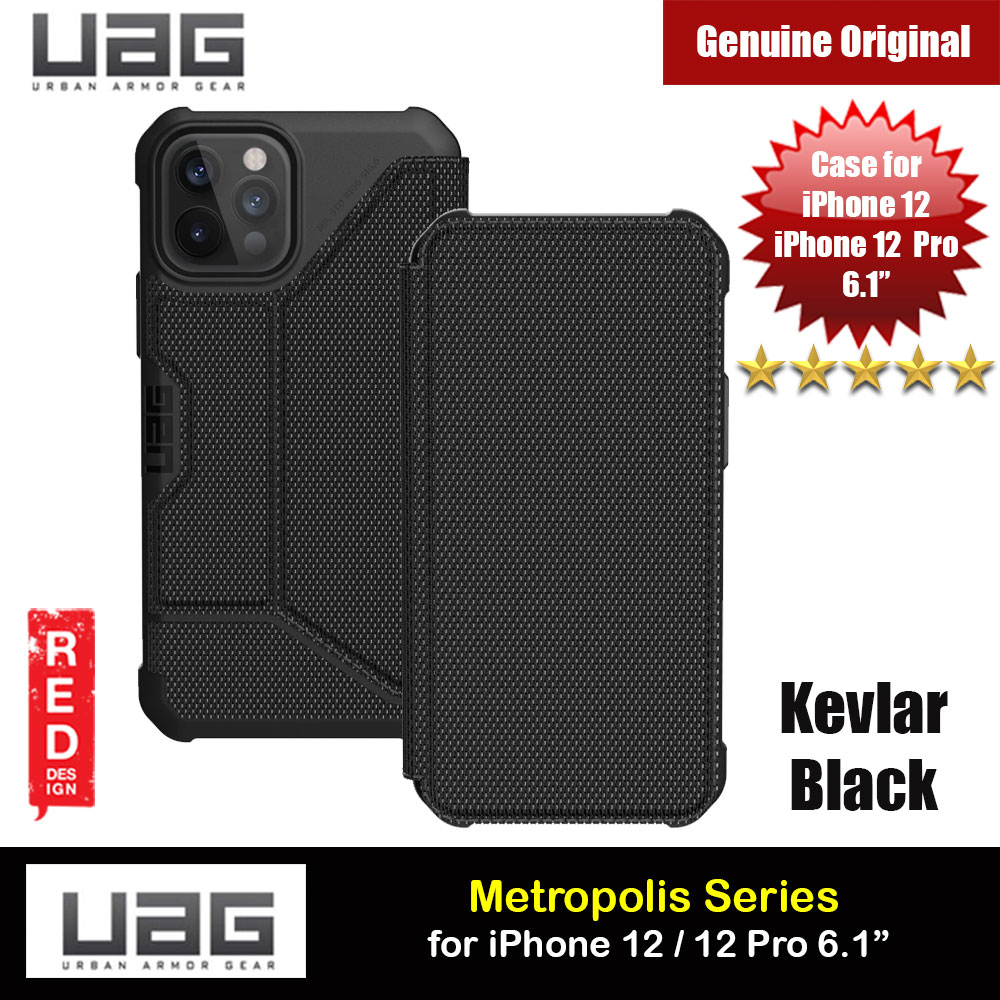 Picture of UAG Urban Armor Gear Protection Flip Cover Card Storage Case Metropolis Series for iPhone 12 iPhone 12 Pro 6.1 (Kevlar Black) Apple iPhone 12 6.1- Apple iPhone 12 6.1 Cases, Apple iPhone 12 6.1 Covers, iPad Cases and a wide selection of Apple iPhone 12 6.1 Accessories in Malaysia, Sabah, Sarawak and Singapore