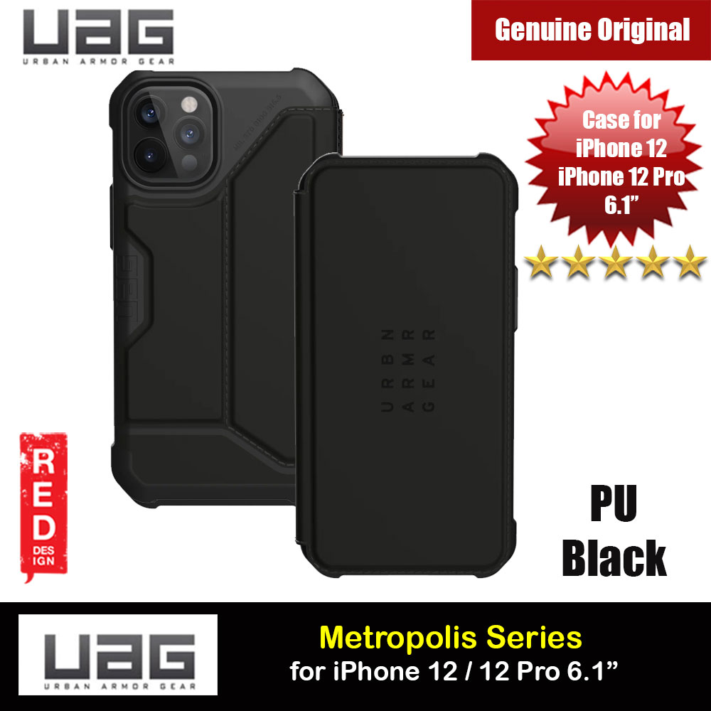 Picture of UAG Urban Armor Gear Protection Flip Cover Card Storage Case Metropolis Series for iPhone 12 iPhone 12 Pro 6.1 (PU Black) Apple iPhone 12 6.1- Apple iPhone 12 6.1 Cases, Apple iPhone 12 6.1 Covers, iPad Cases and a wide selection of Apple iPhone 12 6.1 Accessories in Malaysia, Sabah, Sarawak and Singapore