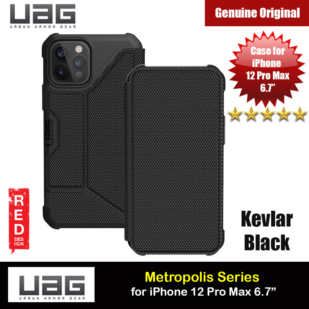 Picture of UAG Urban Armor Gear Protection Flip Cover Card Storage Case Metropolis Series for iPhone 12 Pro Max 6.7 (PU Black) Apple iPhone 12 Pro Max 6.7- Apple iPhone 12 Pro Max 6.7 Cases, Apple iPhone 12 Pro Max 6.7 Covers, iPad Cases and a wide selection of Apple iPhone 12 Pro Max 6.7 Accessories in Malaysia, Sabah, Sarawak and Singapore