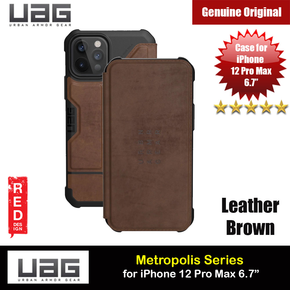 Picture of UAG Urban Armor Gear Protection Flip Cover Card Storage Case Metropolis Series for iPhone 12 Pro Max 6.7 (Leather Brown) Apple iPhone 12 Pro Max 6.7- Apple iPhone 12 Pro Max 6.7 Cases, Apple iPhone 12 Pro Max 6.7 Covers, iPad Cases and a wide selection of Apple iPhone 12 Pro Max 6.7 Accessories in Malaysia, Sabah, Sarawak and Singapore