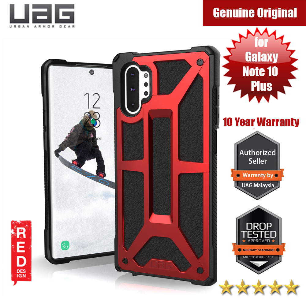 Picture of UAG Urban Armor Gear Protection Case Monarch Series for Samsung Galaxy Note 10 Plus (Crimson) Samsung Galaxy Note 10 Plus- Samsung Galaxy Note 10 Plus Cases, Samsung Galaxy Note 10 Plus Covers, iPad Cases and a wide selection of Samsung Galaxy Note 10 Plus Accessories in Malaysia, Sabah, Sarawak and Singapore