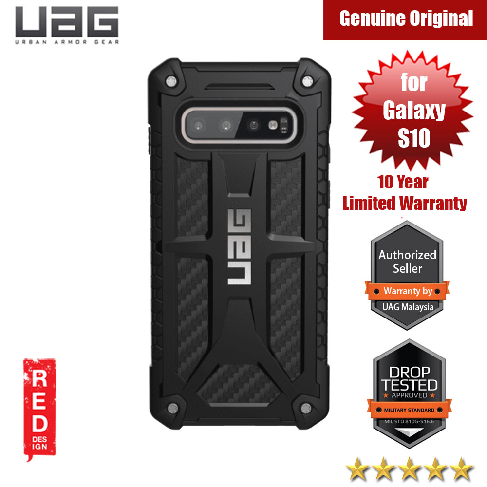 Picture of UAG Monarch Series for Samsung Galaxy S10 (Carbon Fiber) Samsung Galaxy S10- Samsung Galaxy S10 Cases, Samsung Galaxy S10 Covers, iPad Cases and a wide selection of Samsung Galaxy S10 Accessories in Malaysia, Sabah, Sarawak and Singapore