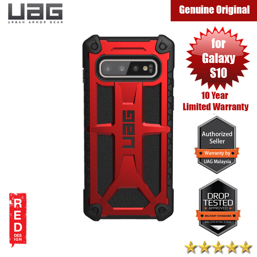 Picture of UAG Monarch Series for Samsung Galaxy S10 (Crimson Red) Samsung Galaxy S10- Samsung Galaxy S10 Cases, Samsung Galaxy S10 Covers, iPad Cases and a wide selection of Samsung Galaxy S10 Accessories in Malaysia, Sabah, Sarawak and Singapore