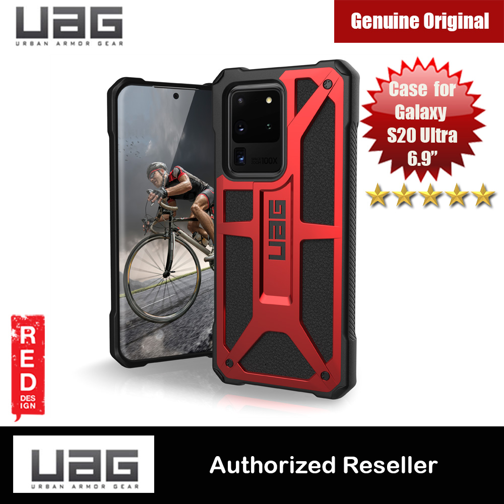 Picture of UAG Monarch Series Drop Protection Case for Samsung Galaxy S20 Ultra 6.9 inches (Crimson Red) Samsung Galaxy S20 Ultra 6.9- Samsung Galaxy S20 Ultra 6.9 Cases, Samsung Galaxy S20 Ultra 6.9 Covers, iPad Cases and a wide selection of Samsung Galaxy S20 Ultra 6.9 Accessories in Malaysia, Sabah, Sarawak and Singapore