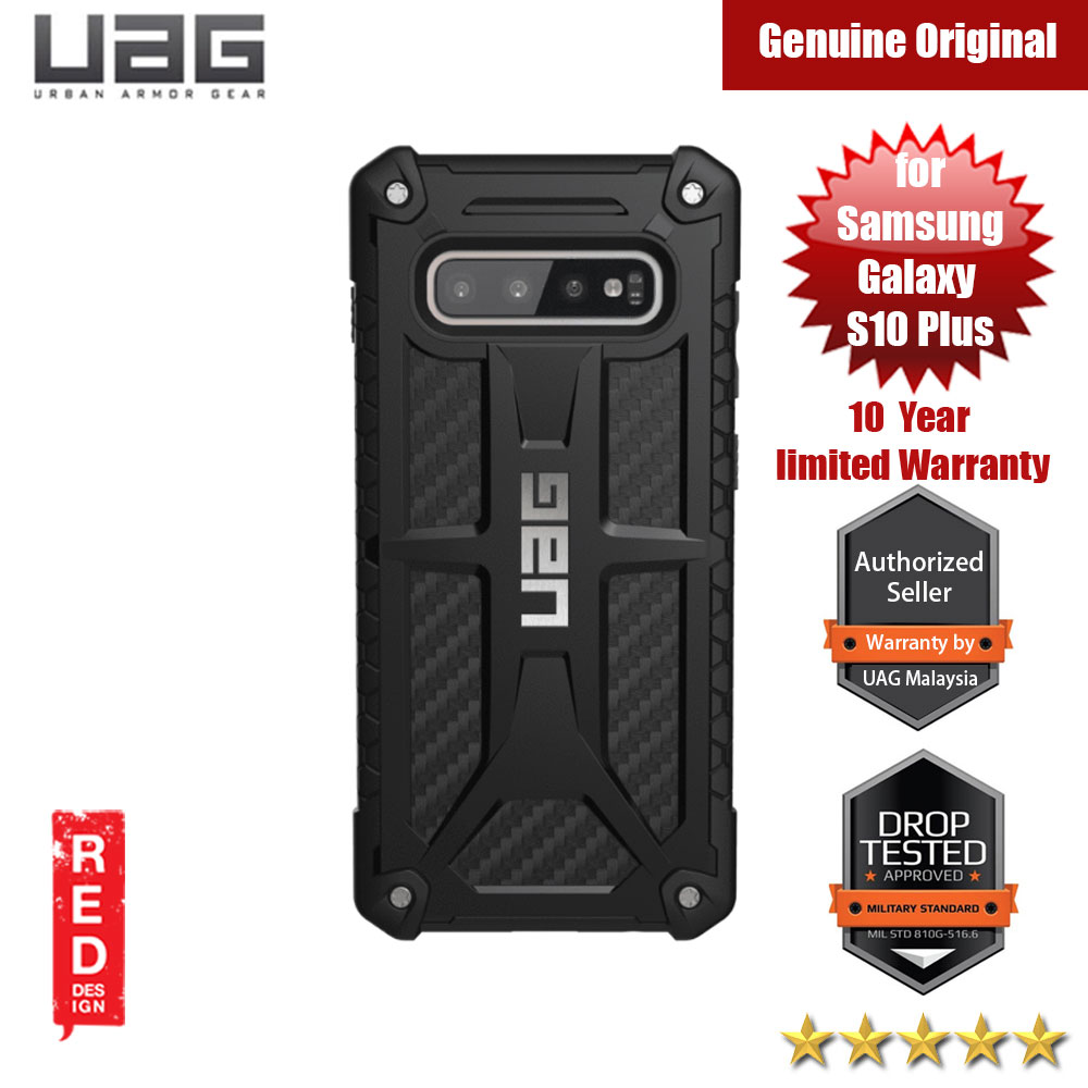 Picture of UAG Monarch Series for Samsung Galaxy S10 Plus (Carbon Fiber) Samsung Galaxy S10 Plus- Samsung Galaxy S10 Plus Cases, Samsung Galaxy S10 Plus Covers, iPad Cases and a wide selection of Samsung Galaxy S10 Plus Accessories in Malaysia, Sabah, Sarawak and Singapore