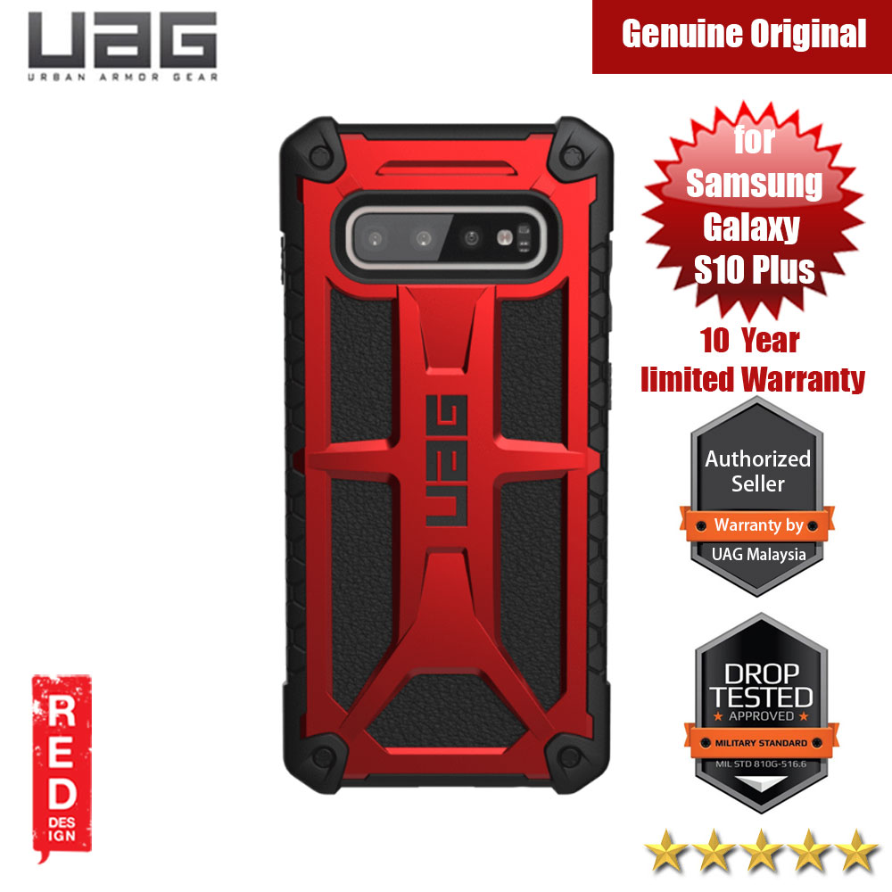 Picture of UAG Monarch Series for Samsung Galaxy S10 Plus (Magma Red) Samsung Galaxy S10 Plus- Samsung Galaxy S10 Plus Cases, Samsung Galaxy S10 Plus Covers, iPad Cases and a wide selection of Samsung Galaxy S10 Plus Accessories in Malaysia, Sabah, Sarawak and Singapore