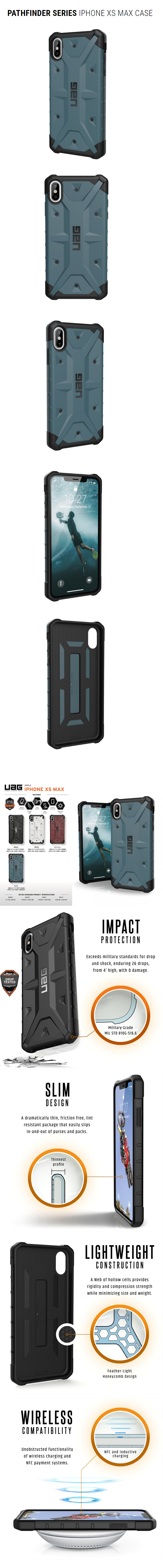 buy popular d9ad2 0318d UAG Pathfinder Series Protection Case for Apple iPhone XS Max (Slate)
