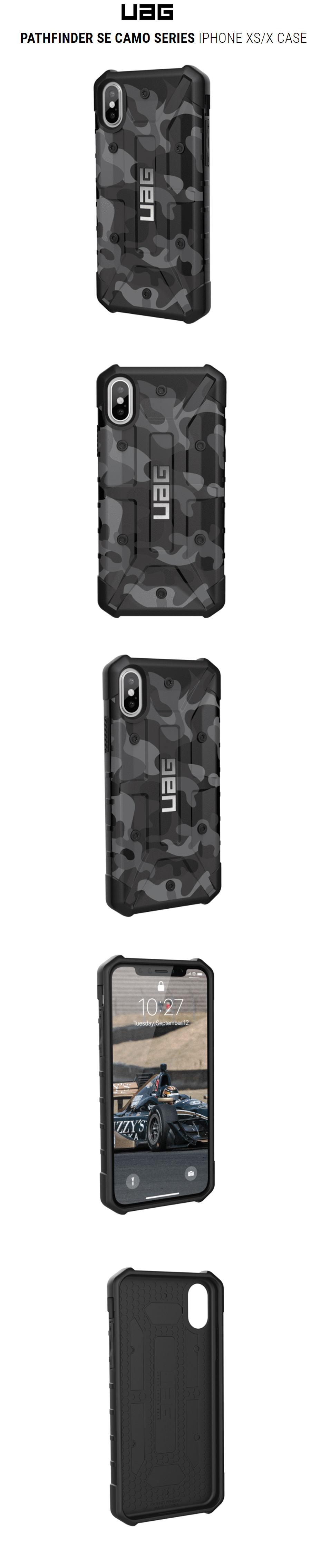 purchase cheap cad61 f4edc UAG Pathfinder Camo Series Case for Apple iPhone XS iPhone X (Midnight Camo)