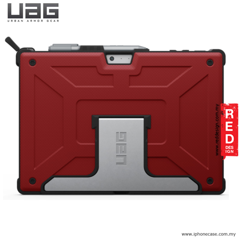 Picture of Microsoft Surface Pro 4 2017 Case | UAG Urban Armor Gear Protection Case for Microsoft Surface Pro 4 - Magma Red