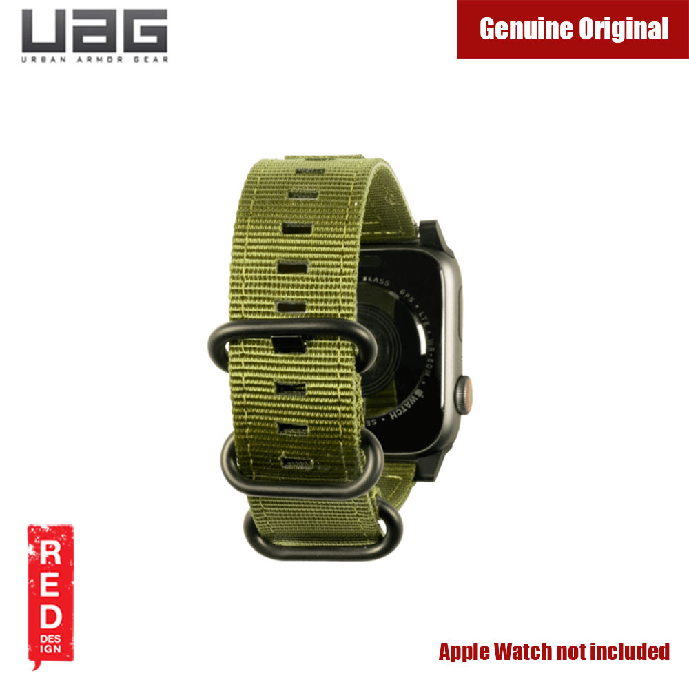 Picture of Apple Watch 42mm  | UAG Rugged Nato Watch Strap for Apple Watch 42mm 44mm (Olive Drab)