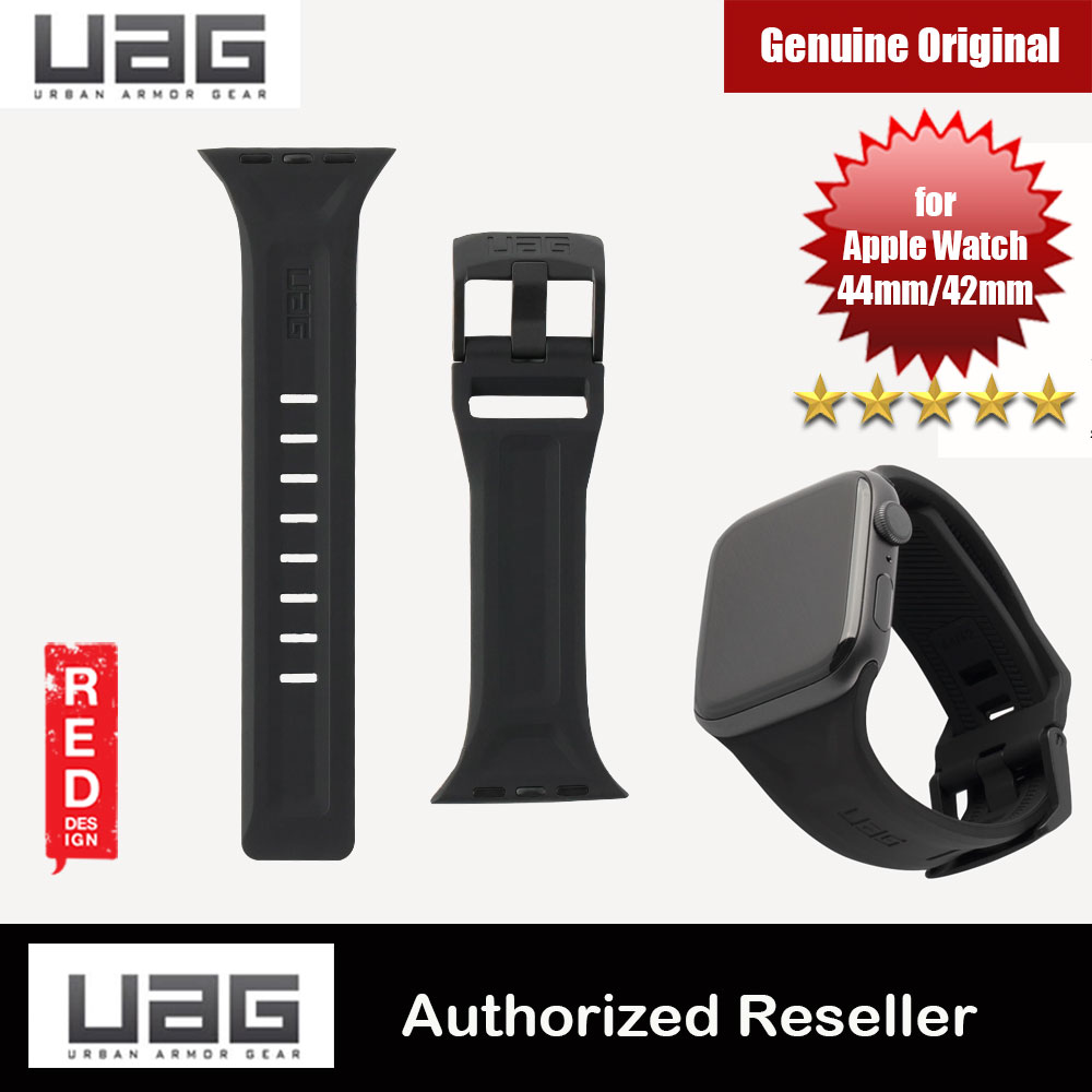 Picture of UAG Scout Silicone Watch Strap for Apple Watch 42mm 44mm Series 4 Series 5 Series 6 Series SE (Black) Red Design- Red Design Cases, Red Design Covers, iPad Cases and a wide selection of Red Design Accessories in Malaysia, Sabah, Sarawak and Singapore