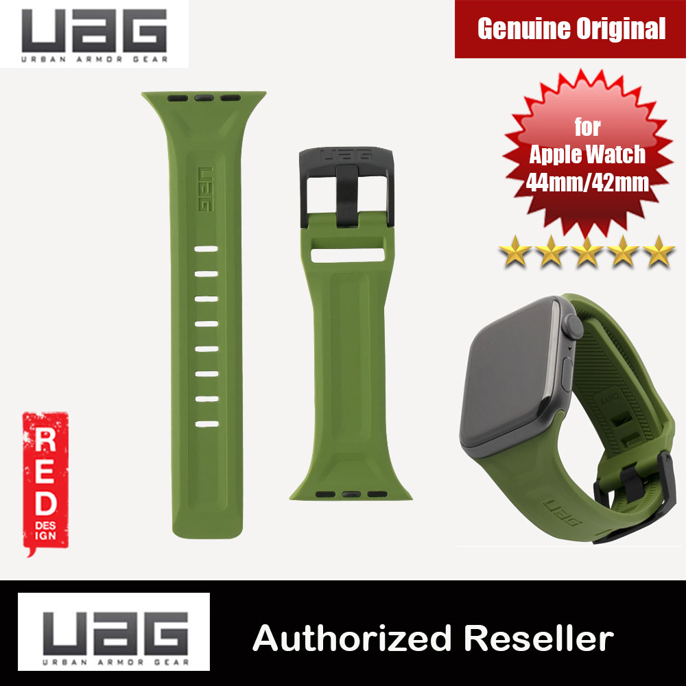 Picture of UAG Scout Silicone Watch Strap for Apple Watch 42mm 44mm Series 4 Series 5 Series 6 Series SE(Olive) Red Design- Red Design Cases, Red Design Covers, iPad Cases and a wide selection of Red Design Accessories in Malaysia, Sabah, Sarawak and Singapore
