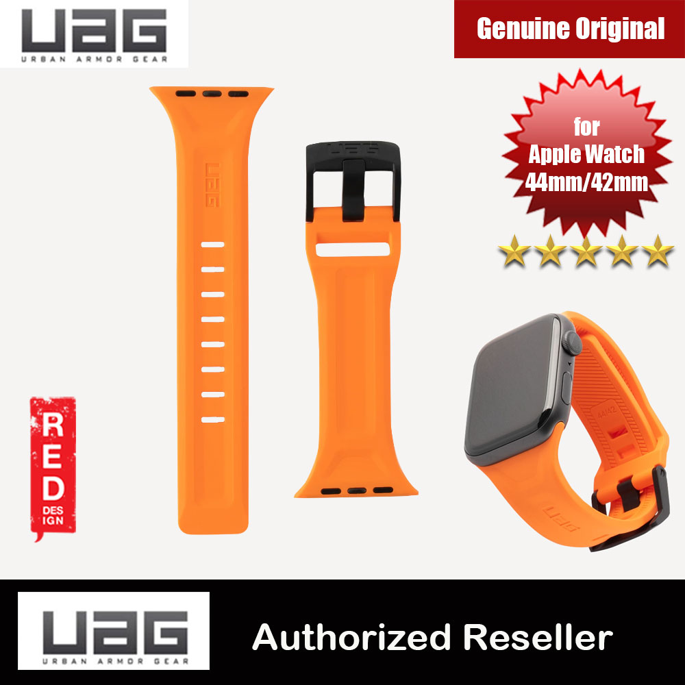 Picture of UAG Scout Silicone Watch Strap for Apple Watch 42mm 44mm Series 4 Series 5 Series 6 Series SE (Orange) Red Design- Red Design Cases, Red Design Covers, iPad Cases and a wide selection of Red Design Accessories in Malaysia, Sabah, Sarawak and Singapore