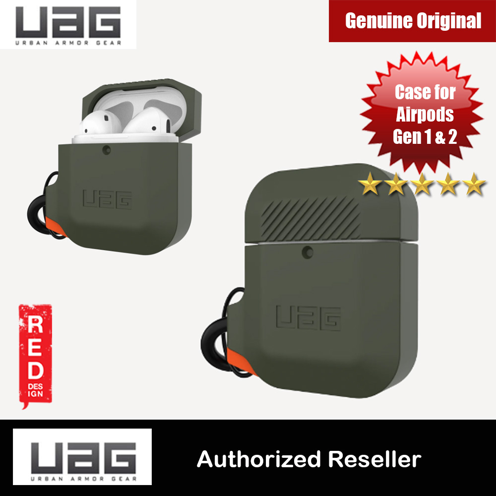 Picture of UAG Drop Protection Silicone Case with Carabiner for Airpods Gen 1 Gen 2 (Olive Drab Orange) Apple Airpods 1- Apple Airpods 1 Cases, Apple Airpods 1 Covers, iPad Cases and a wide selection of Apple Airpods 1 Accessories in Malaysia, Sabah, Sarawak and Singapore