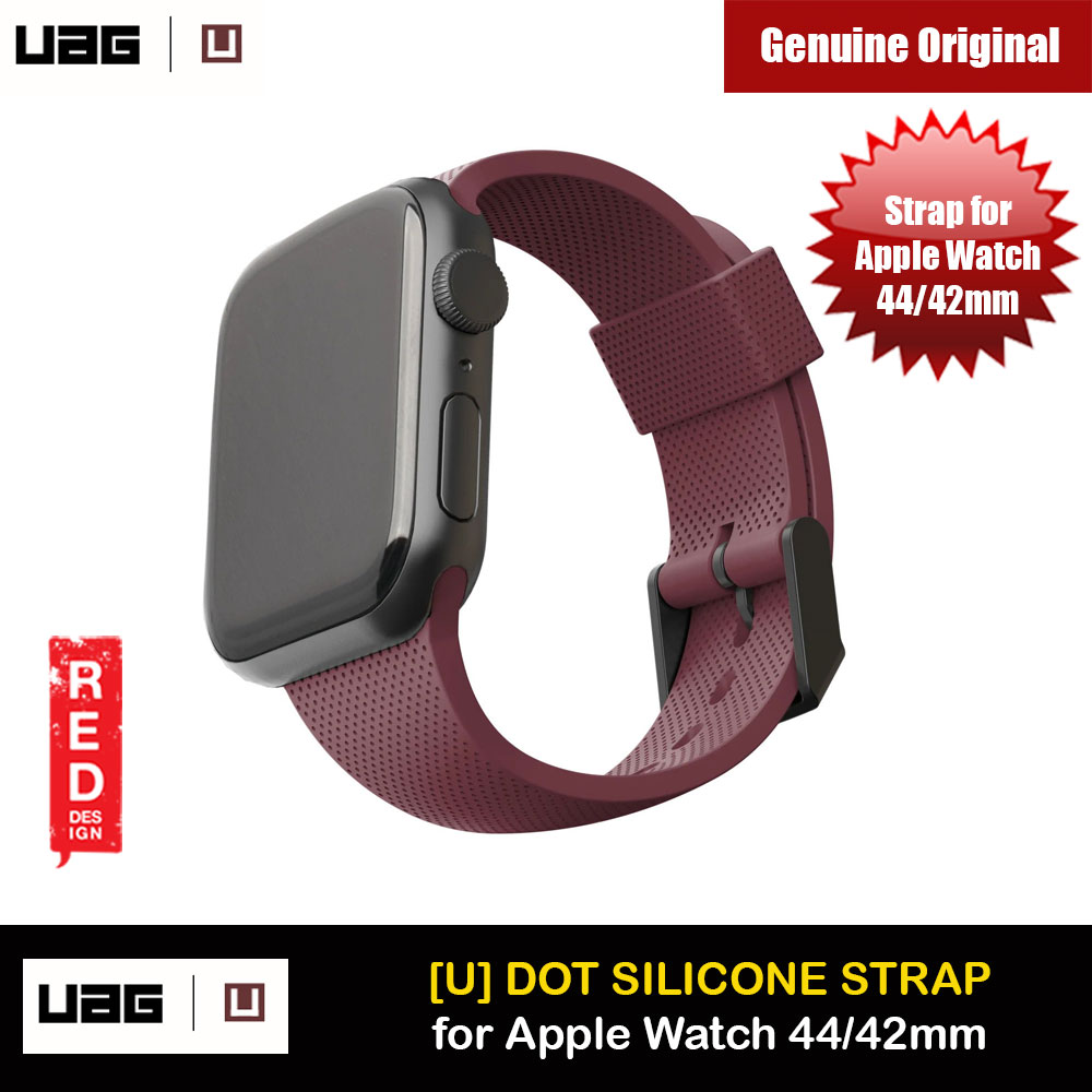 Picture of UAG [U] Dot Silicone Strap for Apple Watch 44mm Series 4 Series 5 Series 6 Series SE (Aubergine) Apple Watch 42mm- Apple Watch 42mm Cases, Apple Watch 42mm Covers, iPad Cases and a wide selection of Apple Watch 42mm Accessories in Malaysia, Sabah, Sarawak and Singapore