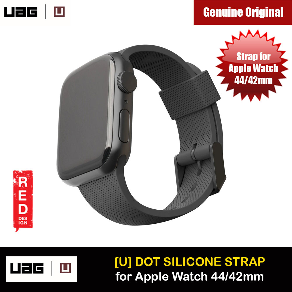 Picture of UAG [U] Dot Silicone Strap for Apple Watch 44mm Series 4 Series 5 Series 6 Series SE (Black) Apple Watch 42mm- Apple Watch 42mm Cases, Apple Watch 42mm Covers, iPad Cases and a wide selection of Apple Watch 42mm Accessories in Malaysia, Sabah, Sarawak and Singapore