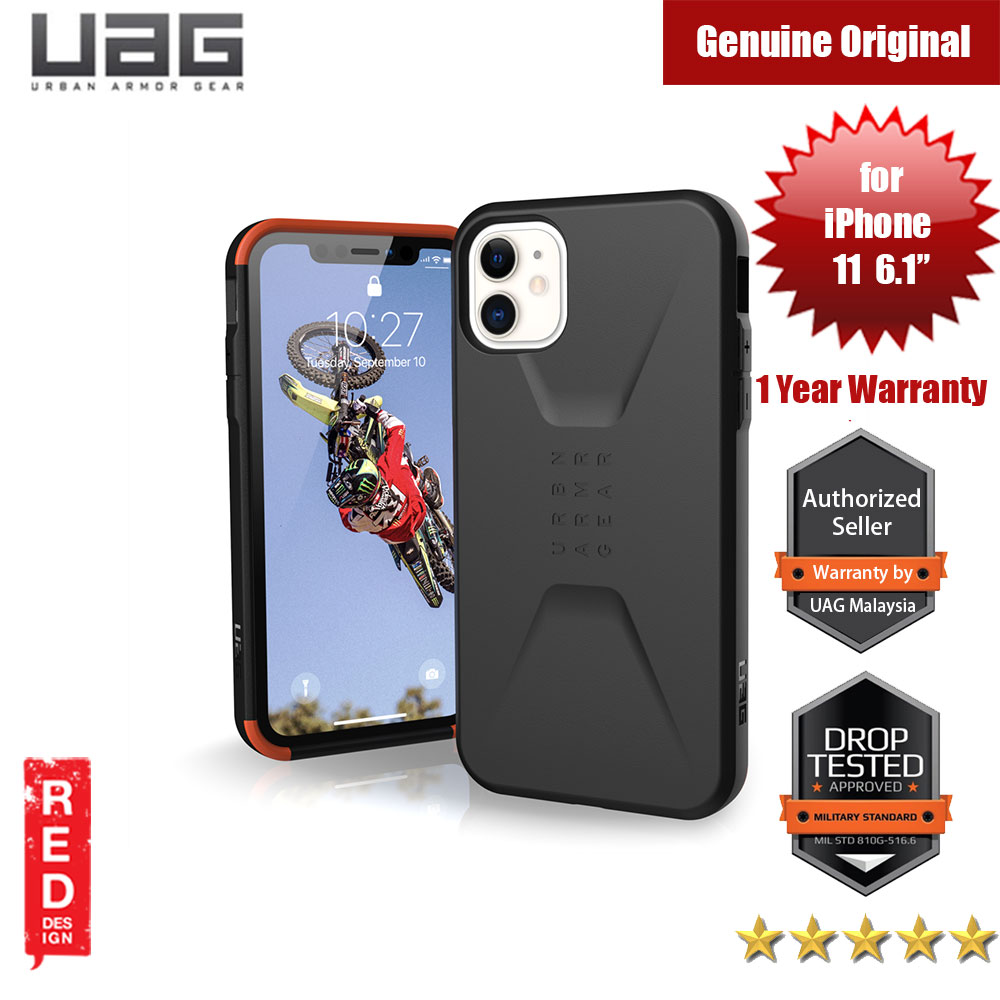 Picture of UAG Civilian Series Drop Protection Case for Apple iPhone 11 6.1 (Black) Apple iPhone 11 6.1- Apple iPhone 11 6.1 Cases, Apple iPhone 11 6.1 Covers, iPad Cases and a wide selection of Apple iPhone 11 6.1 Accessories in Malaysia, Sabah, Sarawak and Singapore
