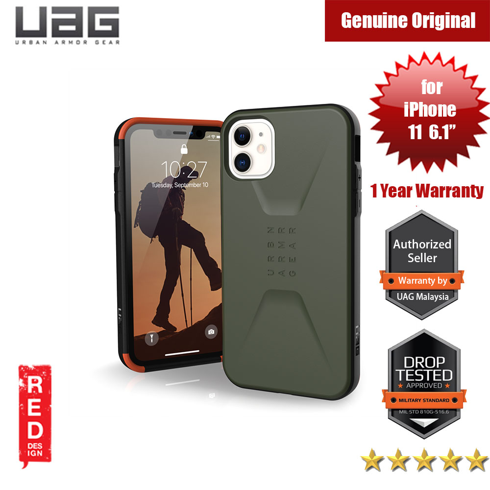 Picture of UAG Civilian  Series Drop Protection Case for Apple iPhone 11 6.1 (Olive Drab) Apple iPhone 11 6.1- Apple iPhone 11 6.1 Cases, Apple iPhone 11 6.1 Covers, iPad Cases and a wide selection of Apple iPhone 11 6.1 Accessories in Malaysia, Sabah, Sarawak and Singapore
