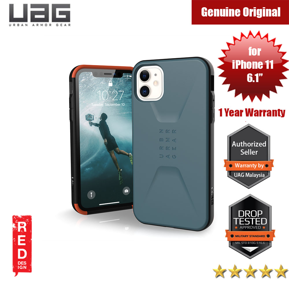 Picture of UAG Civilian  Series Drop Protection Case for Apple iPhone 11 6.1 (Slate) Apple iPhone 11 6.1- Apple iPhone 11 6.1 Cases, Apple iPhone 11 6.1 Covers, iPad Cases and a wide selection of Apple iPhone 11 6.1 Accessories in Malaysia, Sabah, Sarawak and Singapore