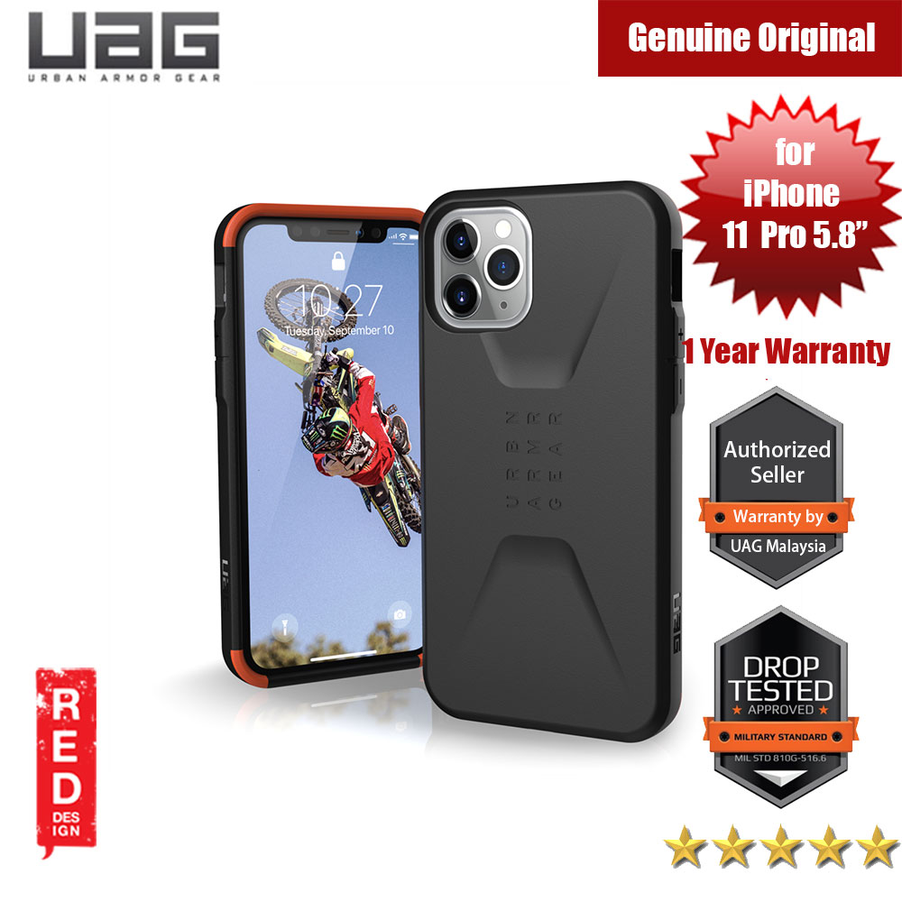 Picture of UAG Civilian Series Drop Protection Case for Apple iPhone 11 Pro 5.8 (Black) Apple iPhone 11 Pro 5.8- Apple iPhone 11 Pro 5.8 Cases, Apple iPhone 11 Pro 5.8 Covers, iPad Cases and a wide selection of Apple iPhone 11 Pro 5.8 Accessories in Malaysia, Sabah, Sarawak and Singapore