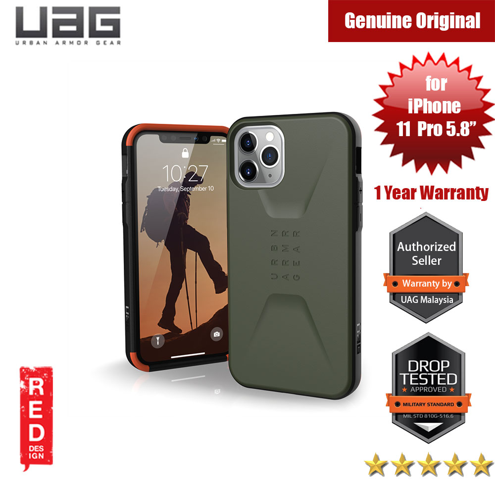 Picture of UAG Civilian Series Drop Protection Case for Apple iPhone 11 Pro 5.8 (Olive Drab) Apple iPhone 11 Pro 5.8- Apple iPhone 11 Pro 5.8 Cases, Apple iPhone 11 Pro 5.8 Covers, iPad Cases and a wide selection of Apple iPhone 11 Pro 5.8 Accessories in Malaysia, Sabah, Sarawak and Singapore