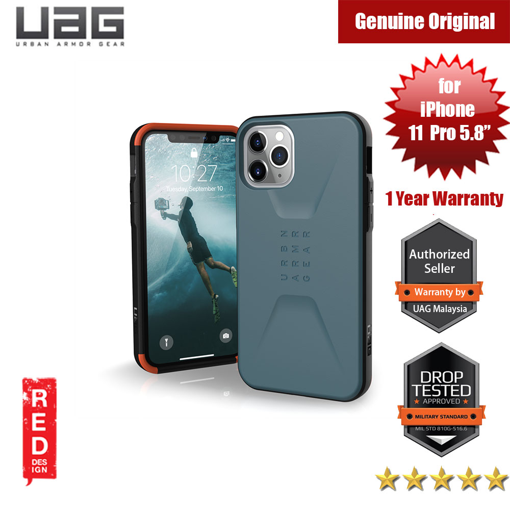 Picture of UAG Civillian Series Drop Protection Case for Apple iPhone 11 Pro 5.8 (Slate) Apple iPhone 11 Pro 5.8- Apple iPhone 11 Pro 5.8 Cases, Apple iPhone 11 Pro 5.8 Covers, iPad Cases and a wide selection of Apple iPhone 11 Pro 5.8 Accessories in Malaysia, Sabah, Sarawak and Singapore