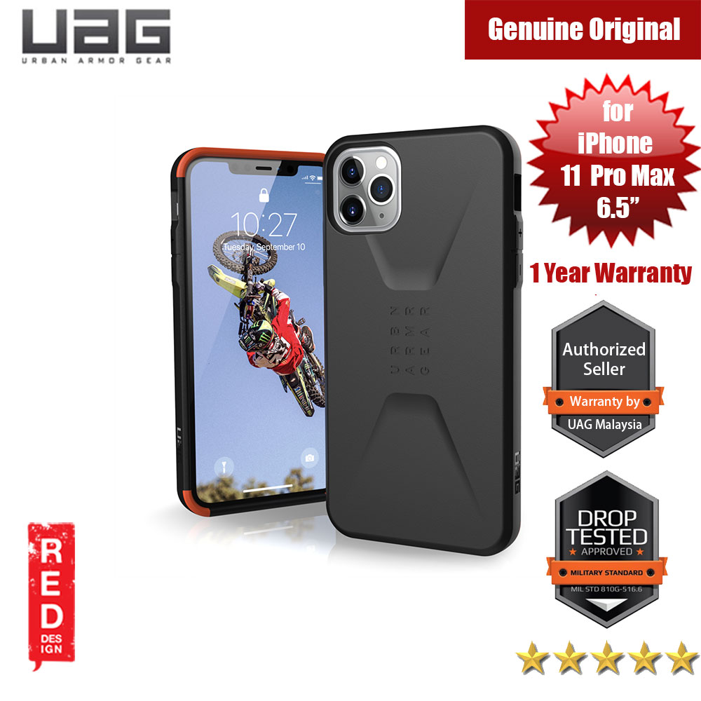 Picture of UAG Civilian Series Drop Protection Case for Apple iPhone 11 Pro Max 6.5 (Black) Apple iPhone 11 Pro Max 6.5- Apple iPhone 11 Pro Max 6.5 Cases, Apple iPhone 11 Pro Max 6.5 Covers, iPad Cases and a wide selection of Apple iPhone 11 Pro Max 6.5 Accessories in Malaysia, Sabah, Sarawak and Singapore
