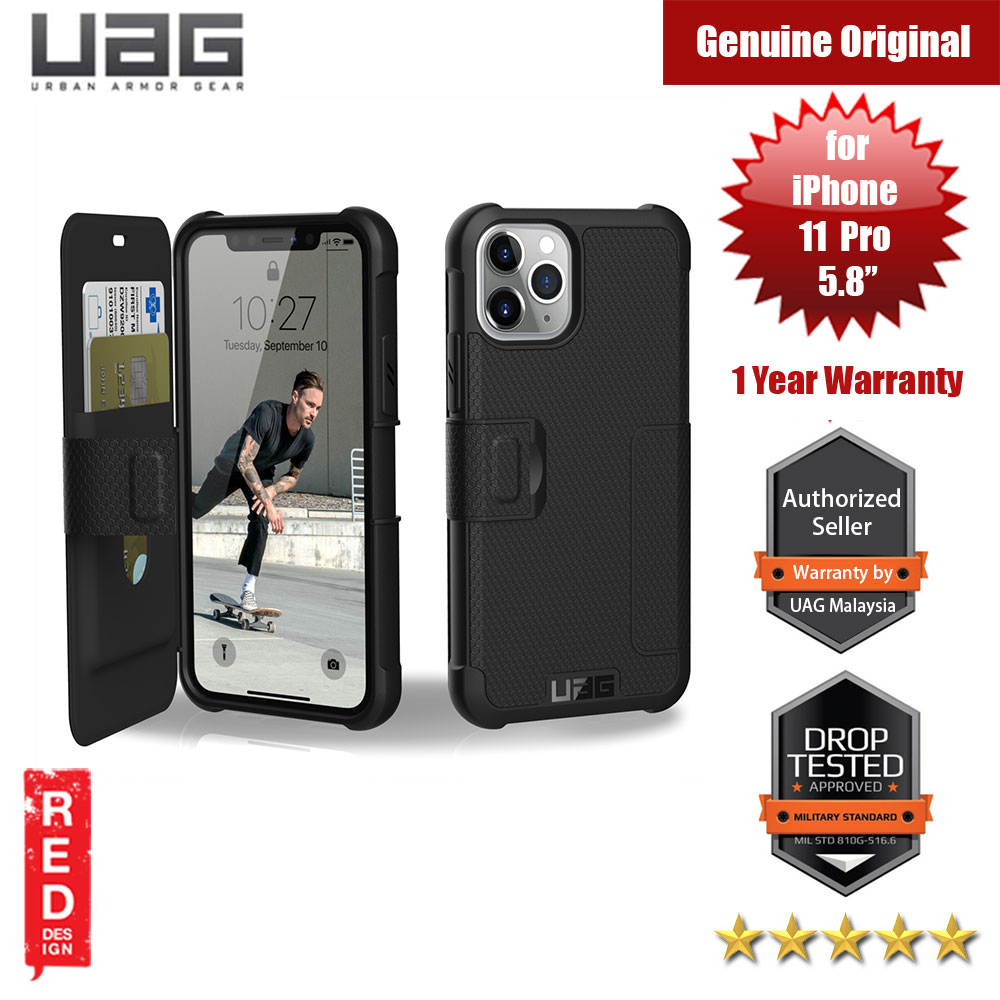 Picture of UAG Metropolis Flip Cover with Card Slot Drop Protection Case for Apple iPhone 11 Pro 5.8 (Black) Apple iPhone 11 Pro 5.8- Apple iPhone 11 Pro 5.8 Cases, Apple iPhone 11 Pro 5.8 Covers, iPad Cases and a wide selection of Apple iPhone 11 Pro 5.8 Accessories in Malaysia, Sabah, Sarawak and Singapore